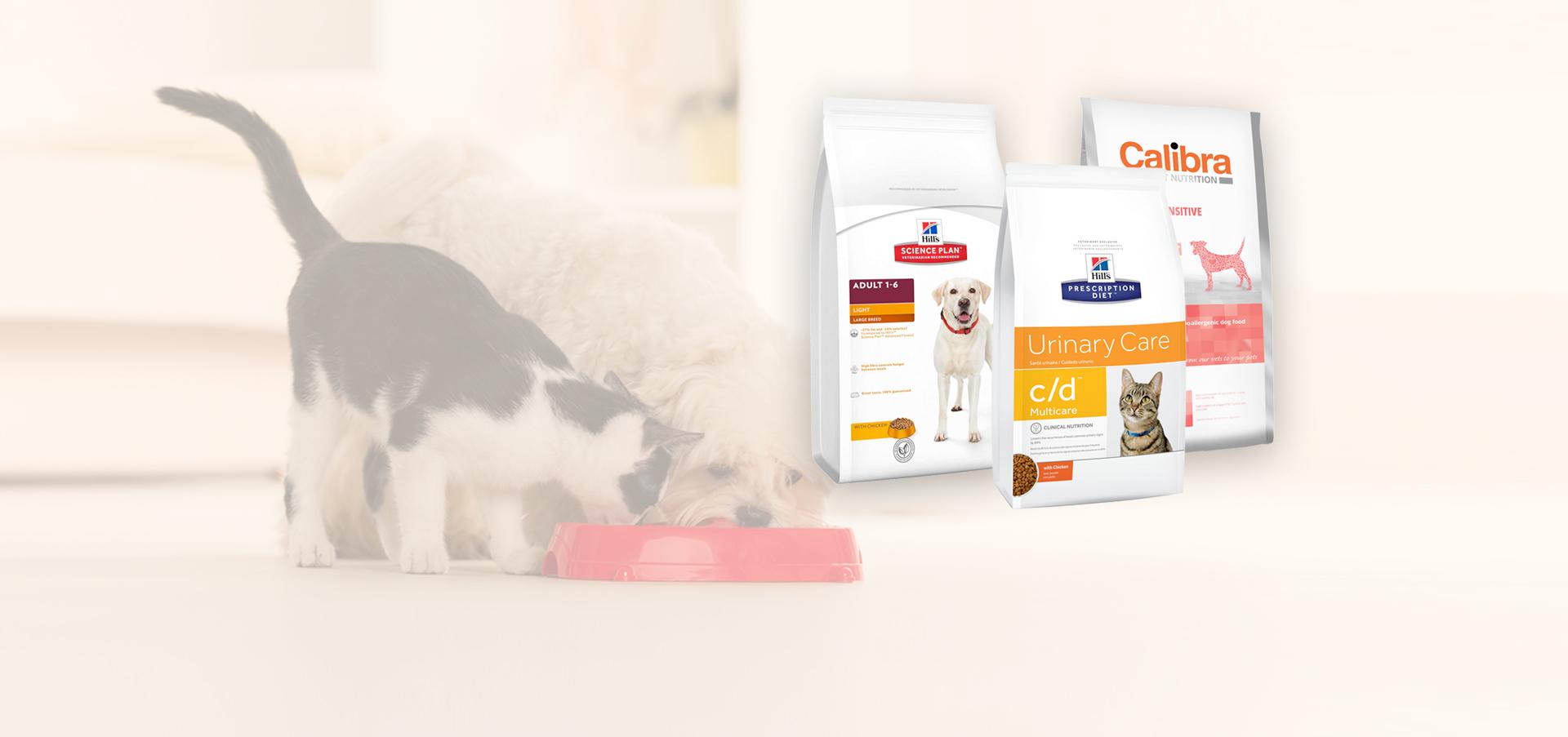Bushypark Vets Galway stock Hills & Calibra dog and cat food